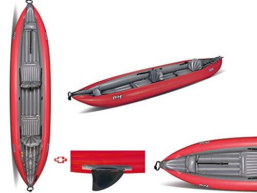 Gumotex - Canoa Gonfiabile Twist N 2/1 Rossa con Pinna 045355-R (5C/11C) GUMOTEX