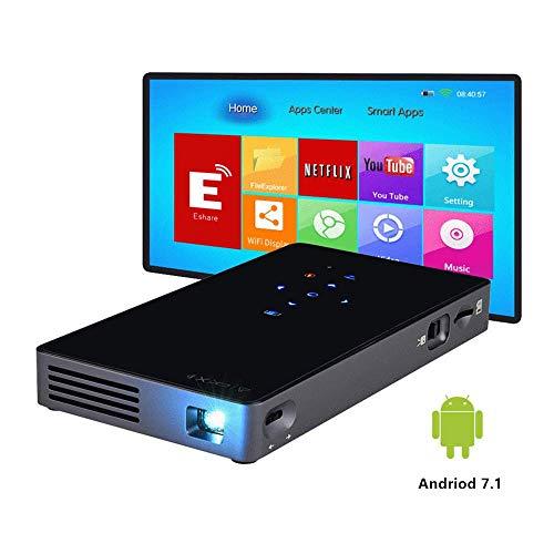 Mini proyector portátil Prechen, WiFi Pico Proyector de Video Soporte 1080P Panel táctil Batería incorporada de 4400 mAh Entrada USB / TF / HDMI para Home Cinema / Presentación Comercial
