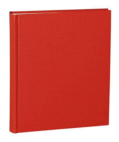Semikolon (351005) Album Medium red (rot) - Foto-Album/Foto-Buch mit 40 Blättern cremeweißem Fotokarton mit Pergaminpapier - 21,6 x 25,5 cm