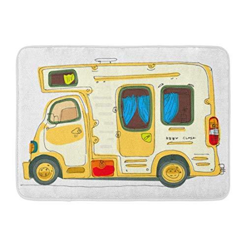 """Yuanmeiju Felpudos Bath Rugs Door Estera Vintage Motorhome Caravan Trailer Camper Home Motor 15.8""""x23.6"""""""