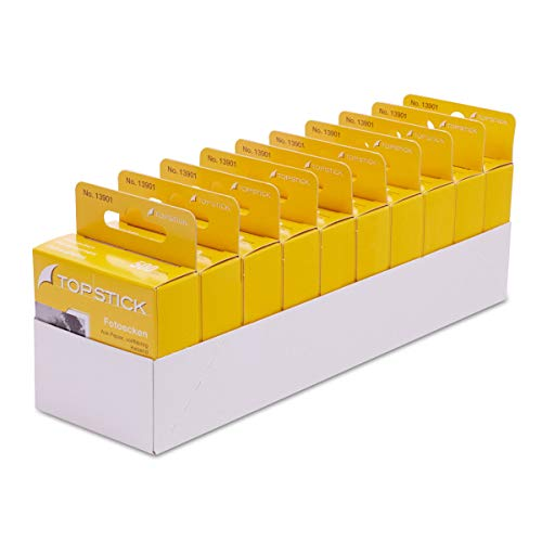topstick Fotoecken selbstklebend aus Papier im Kartonspender 5.000 Stück (GP 10x500 Stück) 13901