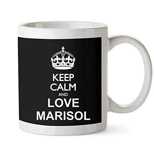 Idakoos Keep calm and love Marisol Mug 11 ounces