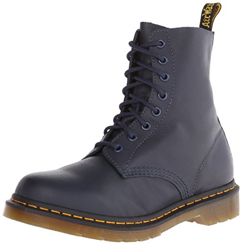 Dr. Martens PASCAL Virginia DRESS BLUE, Damen Combat Boots, Blau (Dress Blue), 40 EU (6.5 Damen UK)