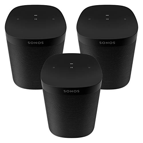 Three Room Set Sonos One SL - The powerful microphone-free speaker for music and more - Black