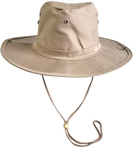 normani Australischer Buschhut/Wanderhut - Atmungsaktiv perfekt geeignet zum Campen und Wandern Farbe Khaki Größe 61