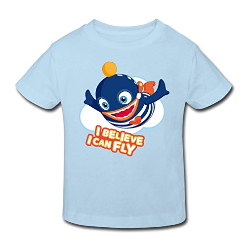 Sorgenfresser Ping I Believe I Can Fly Kinder Bio-T-Shirt, 110-116, Hellblau