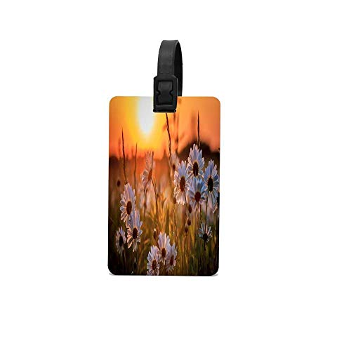 Field Full of Sunflowers Luggage Tag Travel Accessories Business Card Holder Quickly Spot Luggage Suitcas.