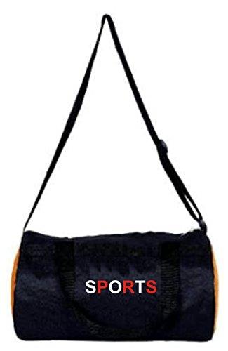 SHOPEE Polyester 30 Liters Black travel bag Sports gym Duffel bag