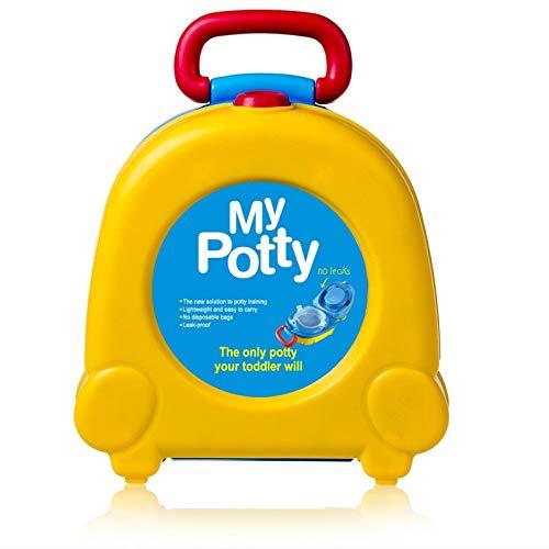 LOHOX Pot Bébé Toilette Siège de Pot Enfants Petit Réutilisable Portable Voyage Carry Seat Potty Baby Training Bedpan Réducteur WC pour Chaise Bébé Enfants (Jaune)