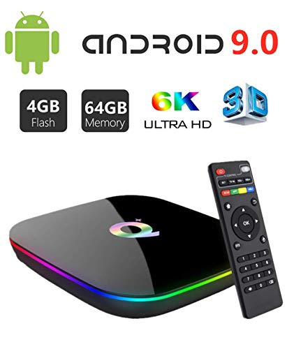 Great Features Of Android 9.0 TV Box,HOMI Q Plus Android Box Chip H6 Quad-core Cortex-A53 4GB RAM 64...