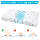 EasyLife185 Baby Head Shaping Pillow, Memory Foam Infant Sleeping Pillow,...