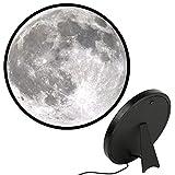 red temp Lámpara LED de espejo con USB 3 modos de iluminación, brillo ajustable sin niveles con soporte de gancho, superficie de la luna, textura regulable, lámpara de maquillaje de 25 cm
