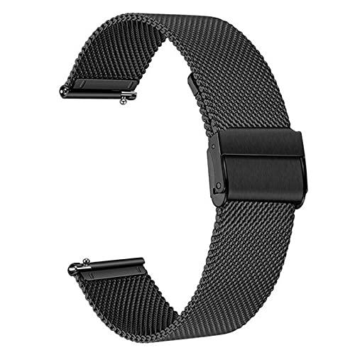 WWXFCA Correa de color para reloj Xiaomi Milanese Pulsera de acero inoxidable Stee 22 mm Correa de reloj Mi Watch Color Metal Pulsera (color de la correa: negro, ancho de la correa: 22 mm)