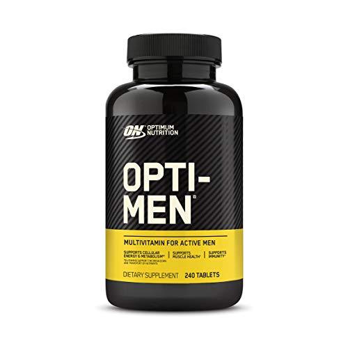 Optimum Nutrition Opti-Men, Vitamin C, Zinc and Vitamin D, E, B12 for Immune Support Mens Daily Multivitamin Supplement, 240 Count (Packaging May Vary)