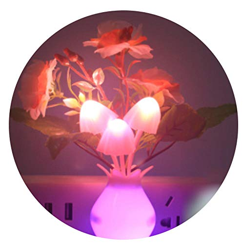 Nightlight Night Lights Romantic Led Night Light Sensor Plug-In Wall Lamp Home Illumination Mushroom Fungus Colorful Light