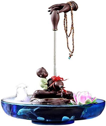 A-Generic Fontaine d intérieur Zen Bureau Fontaine Magique 2 Couche cascade Fontaine d eau avec Tabletop Nébuliseur Petit détente intérieur Cascade Feature