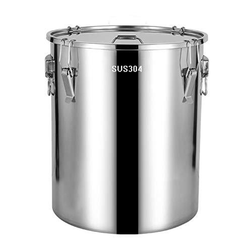 Barril sellado de acero inoxidable 304, fermentador casero para hacer cerveza de vino, barril de agua de arroz (tamaño: 50 L)