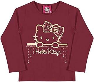Blusa Laço - Bordo- Hello Kitty Baby