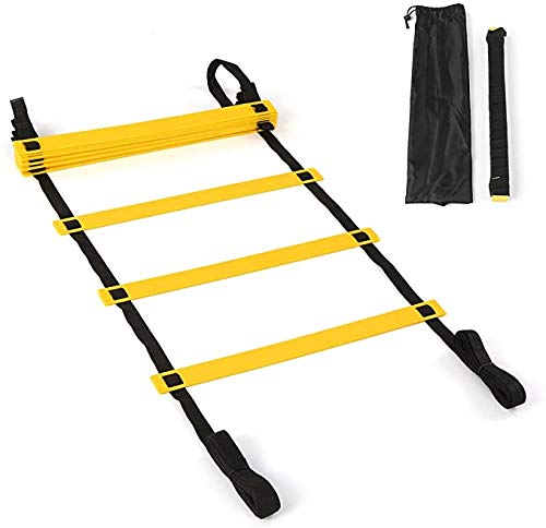 Amazing Deal 有钱花电子商务 Agility Ladder, 20 Ft 12 Rung Speed ​​Exercise Ladders with C...