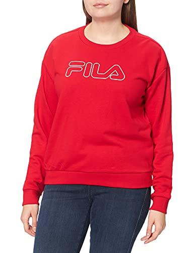 Fila Women Lara Crew Sweat Sudadera, Color Rojo, XS para Mujer