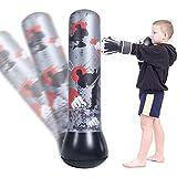 Minterest 120cm Saco de Boxeo,niños Saco de Boxeo de pie para un Rebote inmediato Ejercicio Boxeo Objetivo Bolsa