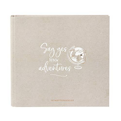 Goldbuch fotoalbum, momentverzamelaars, serie LieblingsDINGE by, fotoalbum met 50 witte pagina's, fotoalbum om op te plakken, fotoboek met linnenstructuur, papier, bruin, ca. 27,5 x 25,5 x 4 cm.