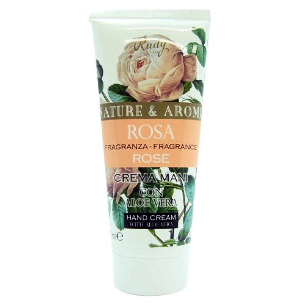ゴールドプラカード明確にRUDY Nature&Arome SERIES ルディ ナチュール&アロマ Hand Cream ハンドクリーム Rose ローズ