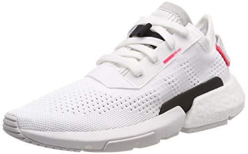 adidas Pod-s3.1 Pk, Herren Gymnastikschuhe, Weiß (Ftwr White/Ftwr White/Shock Red Ftwr White/Ftwr White/Shock Red), 43 1/3 EU (9 UK)