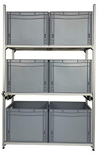 Regalsystem Heckgarage Caravan Wohnmobil für alle Marken passend Aluminium 84 x 31 cm