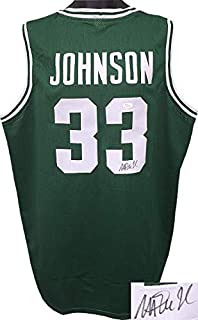 cee6b301 Magic Johnson Autographed Jersey - Green TB Custom Stitched College  Basketball XL Witnessed Holo - JSA