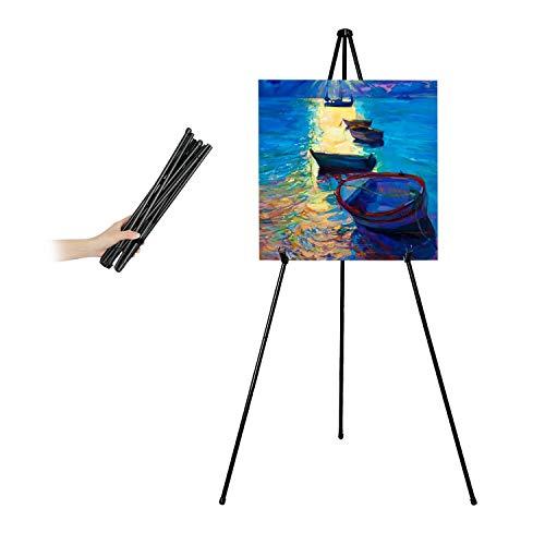 Mutualsign Art Easel, Folding Tripod Easel, Portable Floor Stand Easel,...