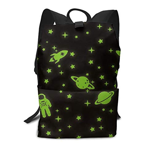 Glow in The Dark Stars Novelty School Bags for Boys Teenage Print 15 Inch Large Capacity Backpack for Girls