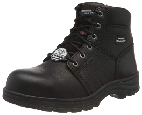 Skechers Herren WORKSHIRE Stiefelette, Black, 26.5 EU