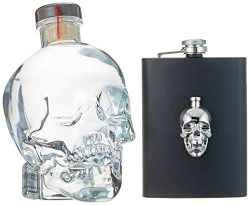 Crystal Head Vodka - Geschenkverpackung mit Flachmann (1 x 0.7 l)