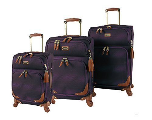 Steve Madden Designer Luggage Collection - 3 Piece Softside Expandable...