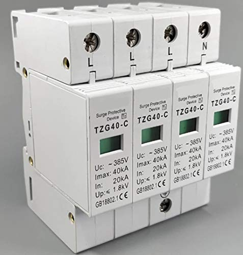 Protector Sobretensiones Transitorias Trifasico AC SPD 3P + N 20KA ~ 40KA C ~ 400V