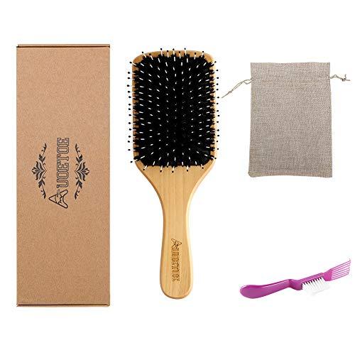 Auoetoe - Cepillo de pelo con cerdas de jabalí para mujeres, hombres,...