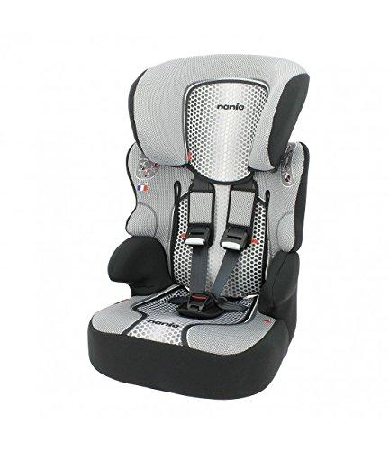 Mycarsit Nania schienale alto–Seggiolino auto per bambini, da 9a 36kg, grigio