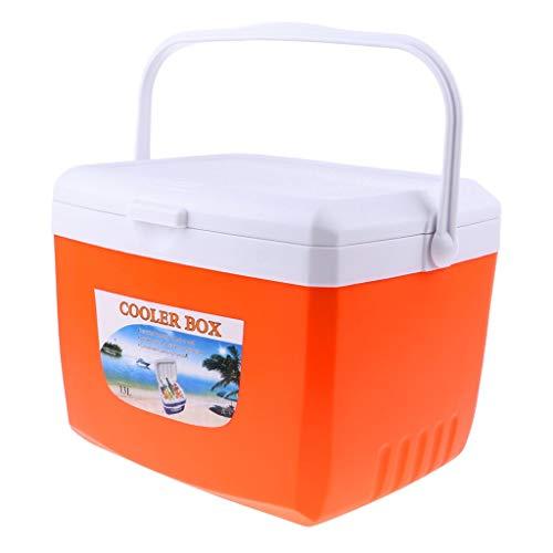 Tubayia Nevera portátil para alimentos, bebidas, caja térmica para camping, exterior, picnic, barbacoa, pesca (naranja, 5 L)