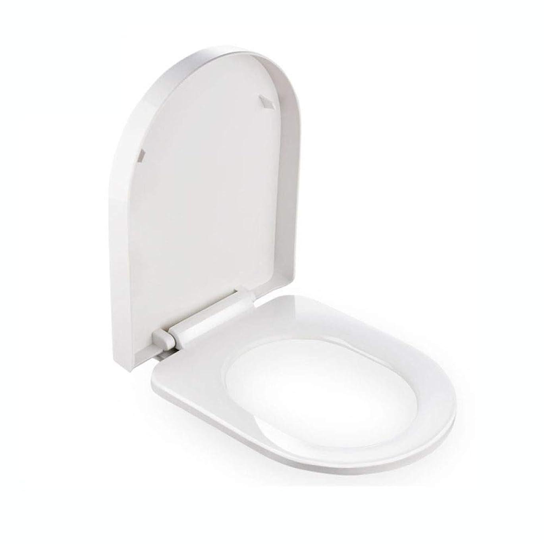 カレンダー遷移クローゼットトイレシート大きなU小さなU字型トイレのふた付きクイックリリース超抵抗トップマウントトイレカバーA-45-47cm * 35.5cm