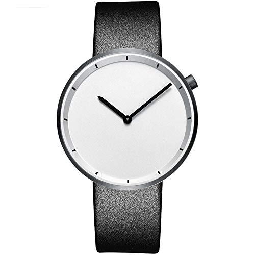 irugh Quarzuhr, Edelstahl Paar Retro einfachen Gürtel Quarzuhr, Bauhaus Herrenuhr Casual Studentin Uhr, 30 cm wasserdicht