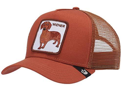 Goorin Bros. Trucker Cap Weiner DAWG Wiener Orange Rust, Size:ONE Size