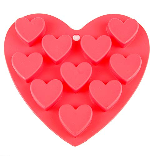Mini Herz Silikon Backform Pralinenform Eiswürfel Förmchen Herzchen Schokoladenform (Miniherzform)
