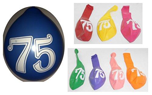 Lot 20 Ballons 75 ans Multicolore 31cm Decoration Anniversaire 987