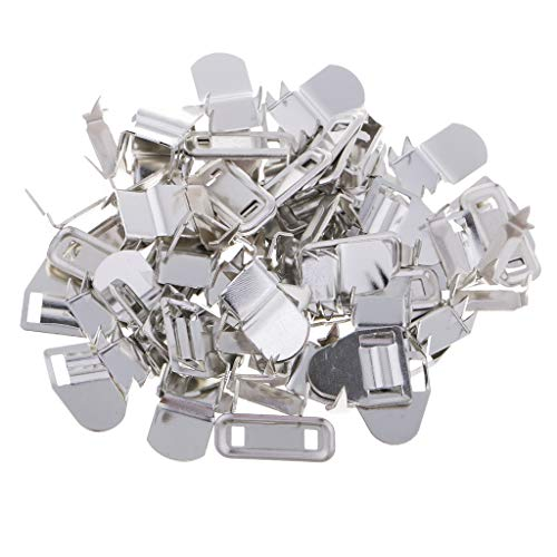 IPOTCH 20 Sets Haken und Öse Verschlüsse Hosenhaken Knöpfe für Hose Rock Kleid Näharbeit Hakenknöpfe - Silber