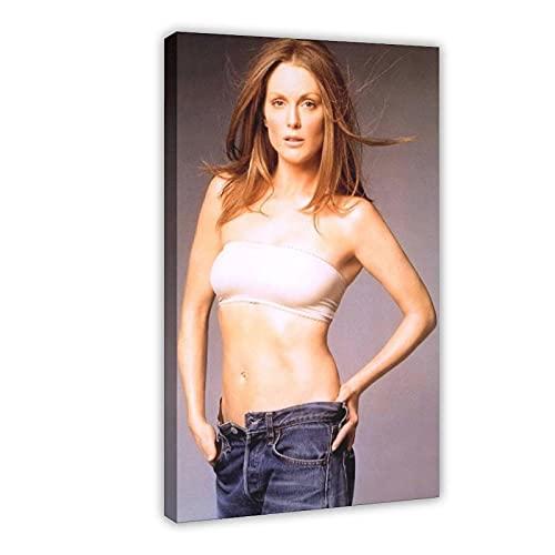American Film And Television Attrice Julianne Moore 13 Tela Poster Arredamento Camera Da Letto Sport Paesaggio Ufficio Decorazione Camera Regalo 20 × 30 cm Frame-style1