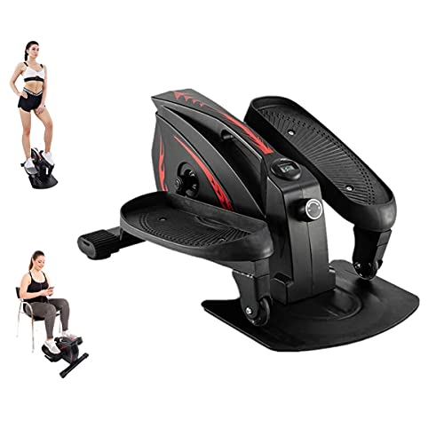 PCAFRS Mini Elliptical Machine Under Desk Elliptical Bike Display Monitor and Adjustable Resistance Whisper Quiet Mini Seated Exercise Equipment for Home Office Workout