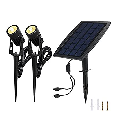 Lc-smarts Solar Pond Spotlights,Submersible Pond Lights with 3 Lamps 18 LEDs Landscape Spotlight Underwater Lights IP68 Waterproof solar Lights for Pond,Garden,Landscape,Fountain,Outdoor,Lawn