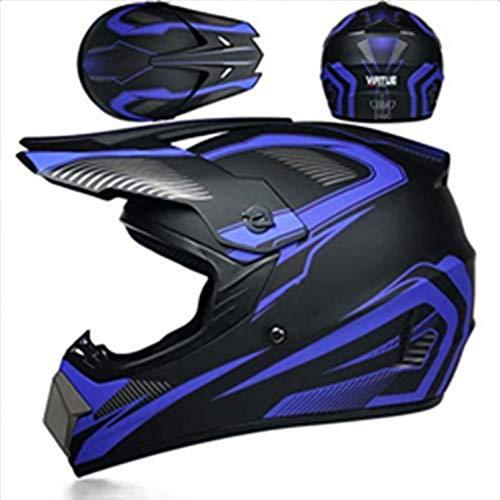 YXLM Motocross-Helm mit Brille, Handschuhe, Masken (4 Stück) Motocross-Helm für Kinder, Mountainbike, Integralhelm für Off-Road, BMX, Cross Road Race (S).