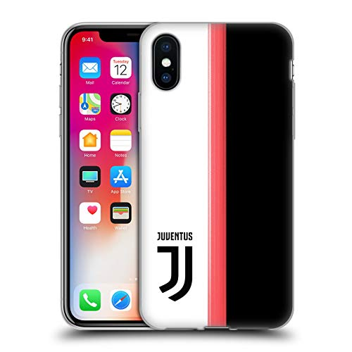 Head Case Designs Offizielle Juventus Football Club Home 2019/20 Race Kit Soft Gel Huelle kompatibel mit iPhone X/iPhone XS